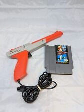 Super Mario Bros / Duck Hunt NES Zapper Bundle Package Orange Zapper Tested