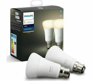 Philips Hue Bluetooth LED B22 Bulb - White (Twin Pack)