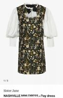 SOLD OUT BNWT Sister Jane Nashville Mini Floral Dress Lace Collar Size XL 14