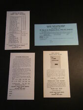 Four Collectible Cachet Craft Cover Service 1960 Order forms - Fresh&Interesting