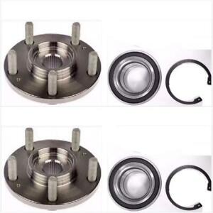 PAIR Front Left And Right Wheel Hub And Bearing fit 2007 2008 2009 2010 2011 2012 2013 HONDA CR-V