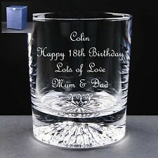Personalised Crystal Whisky Glass Birthday Gift 18th 21st 30th 40th 50th 60th