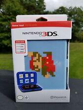Nintendo 3DS/3DS XL/DS/DS XL Game Vault, Hard Case Super Mario Blue NIB New