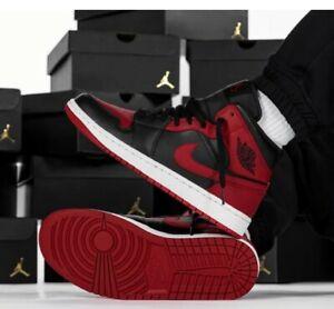 Nike Air Jordan 1 Mid EU 44  banned black/gym red/white Cod 554724-074 Chicago