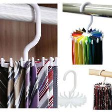 2 Pack Men Tie Rack Rotating Adjustable Organizer Belt Scarf Holds 20 Items NEW