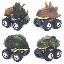Dinosaur Toys for 3 Year Old Boys, 4-Pack Dinosaurs Car Toys for 3+ 4 5 6 7 Year