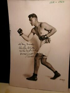 "JACK DEMPSEY - ORIGINAL, VINTAGE 7"" x 10"" AUTOGRAPHED PHOTO - NEW TO MARKET"