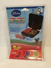 Disney Mickey Mouse Clubhouse 2 Card Games Mini Games W/ Clip N' Go Travel Case