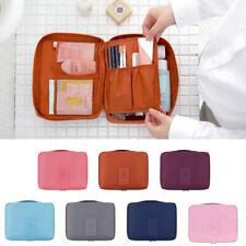 Women Ladies Cosmetic Wash Bag Toiletry Travel MakeUp Hanging Folding Organizer