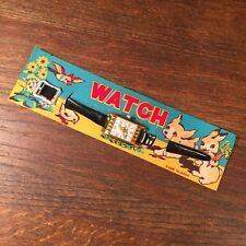 Vintage NOS Toy Watch Made in Japan Bird Puppy Bunny on Card PRIORITY MAIL b
