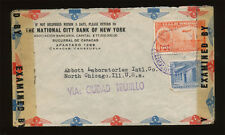 Venezuela - WWII Double Censored Cover Mailed To Abbott Labs, Chicago IL