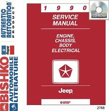 service \u0026 repair manuals for jeep grand wagoneer ebay1990 jeep cherokee comanche wrangler shop service repair manual cd