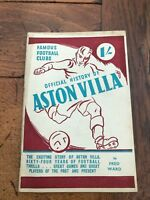 official history of aston villa football club . by fred ward. circa 1948 / 49