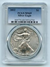 New Listing2012 $1 American Silver Eagle Dollar 1oz Pcgs Ms69