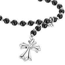 Cadenas, collares y colgantes negros de piedra para hombre