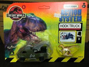Boxed JURASSIC PARK Lost World MATCHBOX #6 Hook Truck DINOSAURS Diecast Model 97