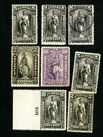 US Stamps 8 mostly mint early newspapers