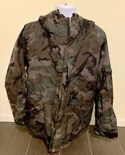 Military Camouflage Parka Cold Weather Men Size Large Regular Nylon Uniform Hood