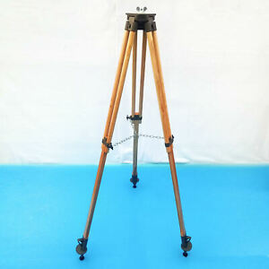 Old Military Wood Tripod for Reflector And Floor Lamp. Industrial Vintage Loft