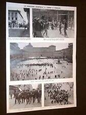 Scene dello Sciopero generale a Torino e Firenze 1914