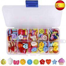 Botones Costura de Colores Mezclados Botones de Resina con Caja de Plástico