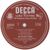 Rolling Stones. Record Label Vinyl Stickers. Decca.