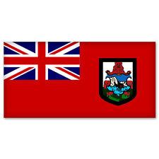 "Bermuda Country Flag car bumper sticker window decal 6"" x 3"""