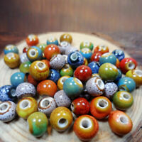 100pcs DIY 6mm Ceramic Porcelain Round Loose Spacer Beads Jewelry Findings