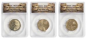 2019 Delaware American Innovation Dollar 3-Coin Set- ANACS MS67 & PR70 FS