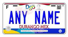 Durango 2017 Mexico Auto Novelty License Plate Placas Auto