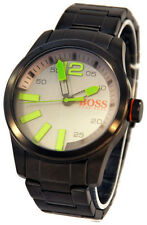 $195 Hugo Boss Orange Mens Paris ION Grey SS Bracelet Watch 1513050 NWT