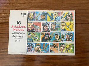Rare Sealed Heroes of Aviation Equitorial Guinea cplySet of 16
