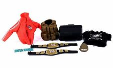 WWE Mattel Elite Belt & Clothing Lot Jacket Shirt Briefcase Figure Accessory_s41