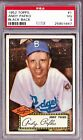 1952 TOPPS #1 ANDY PAFKO BLACK BACK PSA 3 VG, CENTERED, NO CREASES - DODGERS