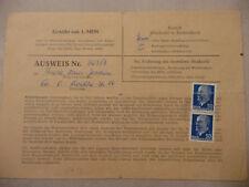 """DDR Sammlerausweis MEF 50 Pfg Ulbricht """"Finsterwalde Niederlausitz"""""""
