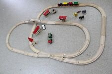Brio Wooden railway Train Set Signal house, Arched Bridge, Town, truck, Cars  #2