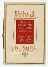 1925 ORIENT CIGARETTE CO. Illustrated Price List Booklet, Egyptian Revival, Cair