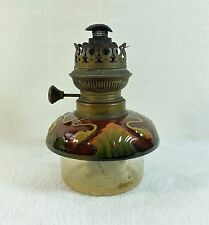 Lampe à pétrole Verre et faïence Art-nouveau déco IDEAL BRENNER 1900's 1910's