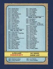 1972-73 O-Pee-Chee #334 CHECK LIST  3rd Series NMMT+ (front) HAVE TO SEE !!