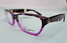 Georgina Eyeglass Frames Women's 721 Purple Tortoise Glasses Rx-able MSRP $78 CB