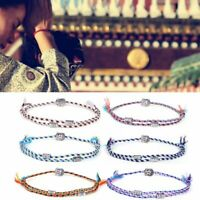 Tibetan Buddha Lucky Woven Amulet Cotton Rope Bracelets Friendship Jewelry Gift