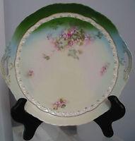 "11 5/8"" Antique B.R.C.Fidelio Platter, Germany, Elegant Victorian Flowers"