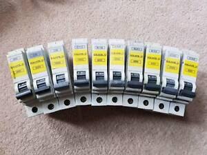 SQUARE D QOE 6Amp or 10Amp or 16Amp or 20Amp or 32Amp Type B Type C Type D mcb