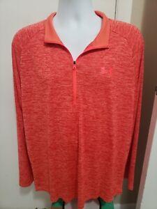 Under Armour HeatGear Loose Fit Men's  3/4 Zip Pullover Shirt XL STRETCH EUC