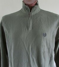 NWT Chaps  1/4 Zip Pullover Sweatshirt Olive Green Size L