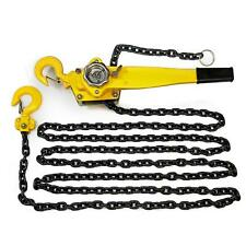 1.5-Ton Heavy Duty Steel Block Chain Lever Hoist Puller Lifter Shop Tools 20 ft.
