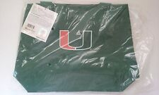 Miami Hurricanes Polyester Tote Bag NIP NCAA 15x12x5 Zipper Shoulder Straps
