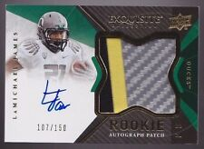 2012 Exquisite LaMichael James On Card Auto 3 Color Jersey Patch Rc Srl # to 150