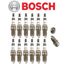 OEM Spark Plugs Double Platinum Plug Bosch Mercedes 112 V6 C CLK E ML SLK (12pc)