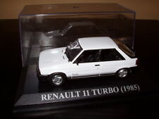 Voiture 1/43 IXO voitures d'antan : RENAULT 11 TURBO 1985 blanche